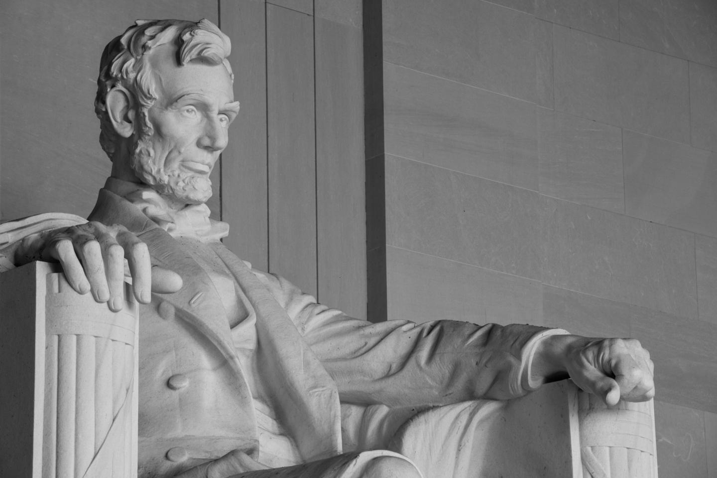 Abraham Lincoln statue at Lincoln Memorial Washington DC